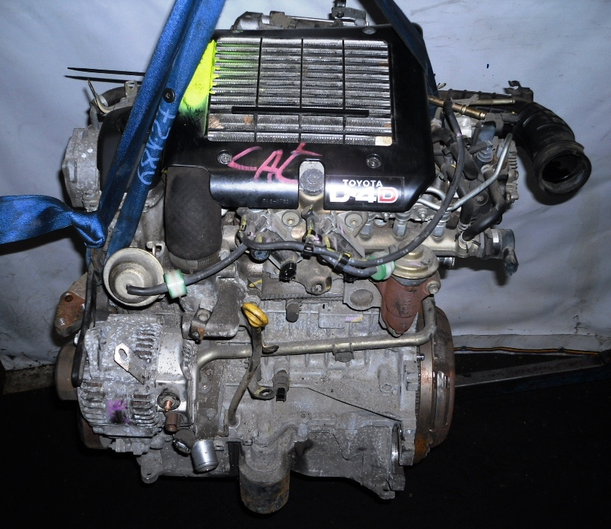 Двигатель дизельный, TOYOTA, YARIS 1, 2004